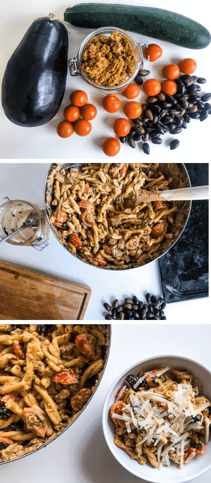 Red Pesto Pasta with Roasted Veggies - Make your own pesto for this red pesto pasta with roasted veggies - and while you're at it, maybe make some extra, it's SO good! Quick and easy to make this red pesto will make you never want to buy the pre-made kind again. #alwaysusebutter #redpesto #pesto #recipe #pestorecipe #redpestorecipe #pestopasta