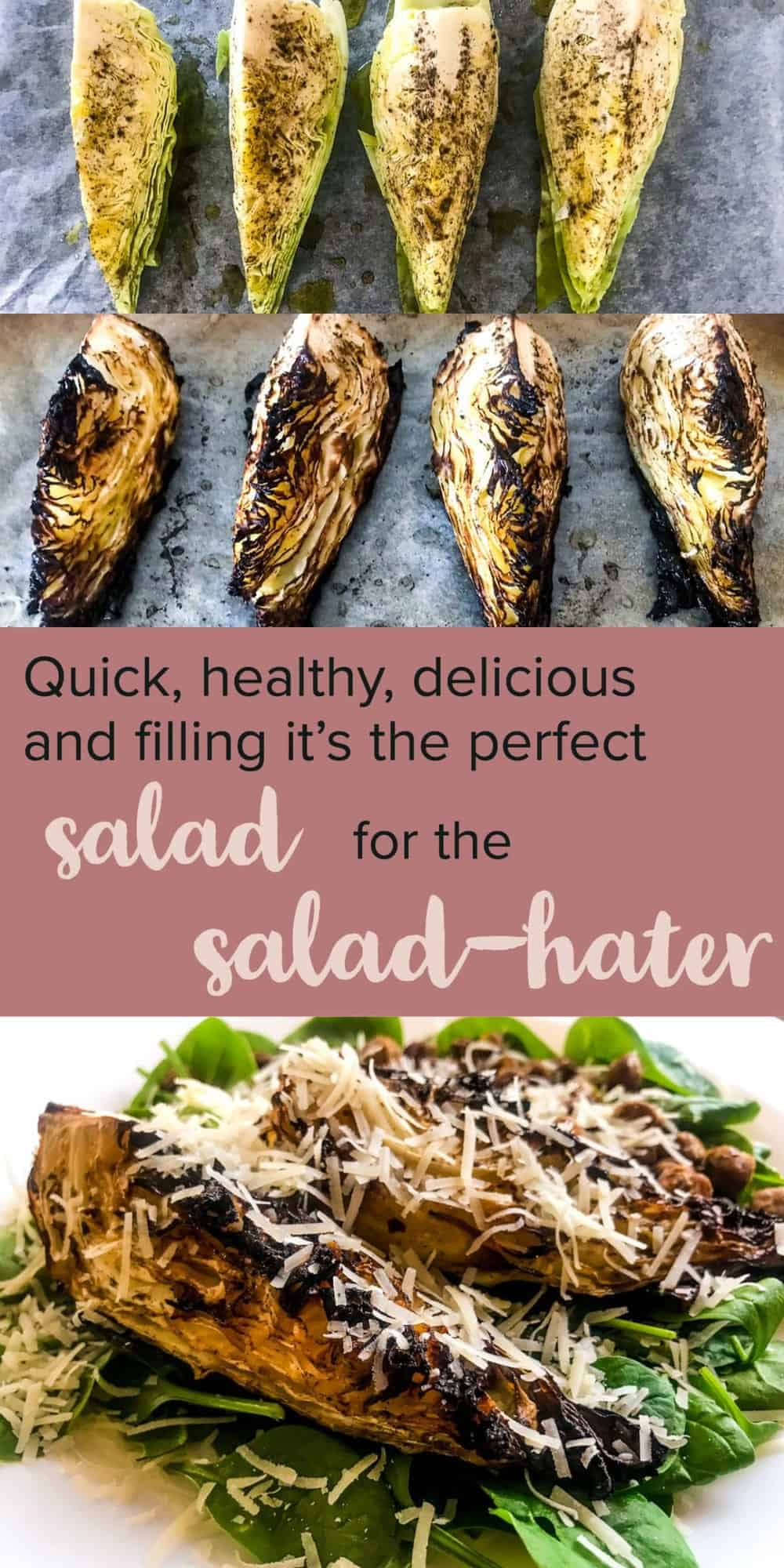 Simple, healthy, quick and delicious - this Pointed Cabbage Salad with Gyoza Chickpeas is sure to leave you full and hella satisfied, all while being filled with healthy goodness. Oh, and it's perfect to make ahead for lunch or dinner as well! #alwaysusebutter #fillingsalad #saladrecipes #salad #healthyrecipes #healthy #gyoza #chickpeas #recipes