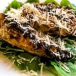 Pointed cabbage salad with gyoza chickpeas and parmesan and spinach