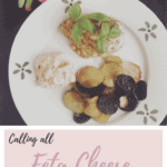 Feta stuffed chicken with roasted beets and potatoes and feta cheese sauce
