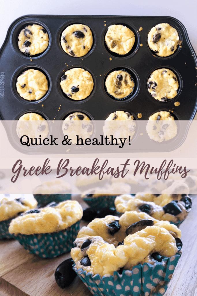 Quick & healthy greek breakfast egg muffins