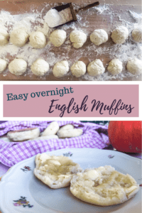 Easy overnight English Muffins