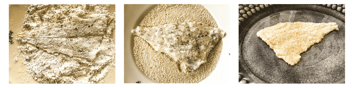 Pan-seared breaded plaice in three steps