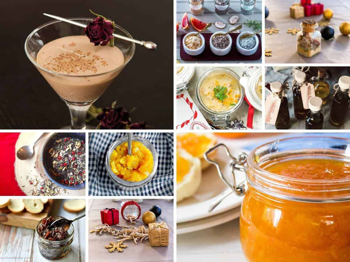 10 homemade food gifts collage