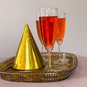 3 glasses of rum & campari champagne cocktail