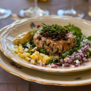 rum-spiked smoked salmon tartare