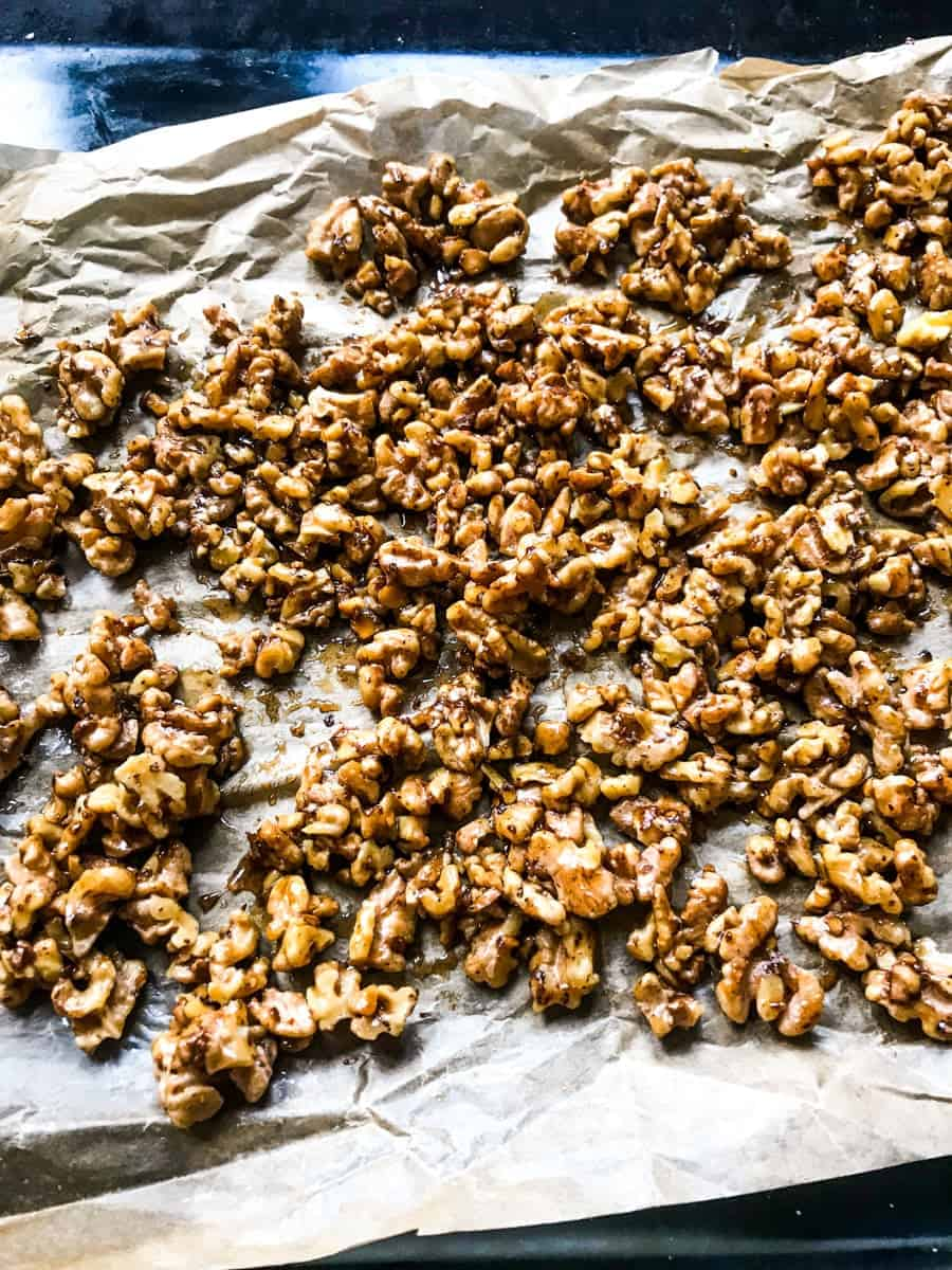 salty spicy candied walnuts