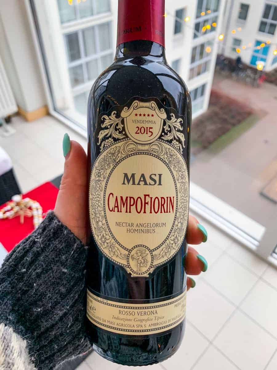 masi campofiorin wine bottle