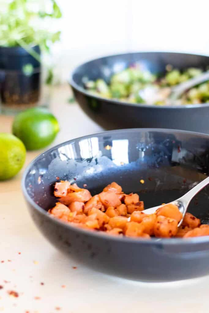 marinated salmon to be used for fish tacos