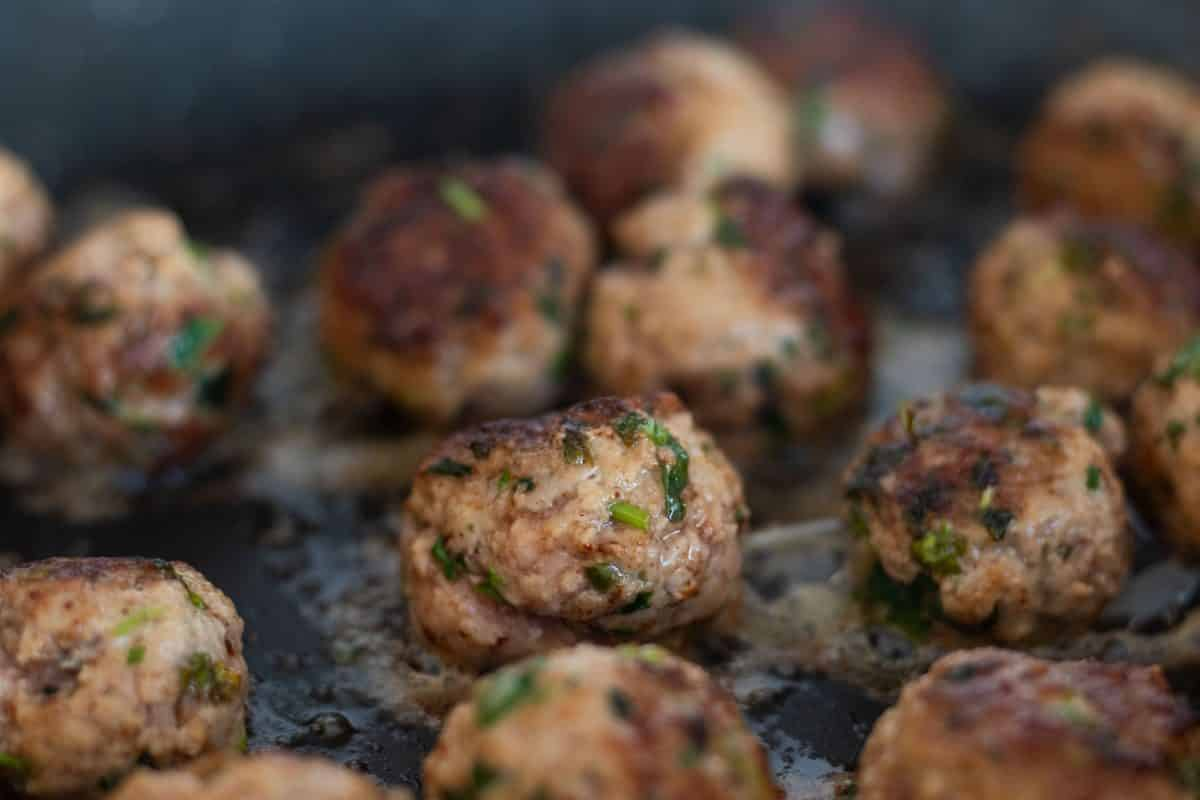 fried lamb meatballs