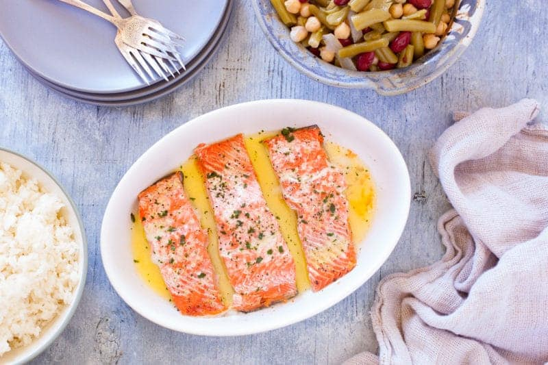 Microwave Salmon Recipe with Lemon Pepper Butter