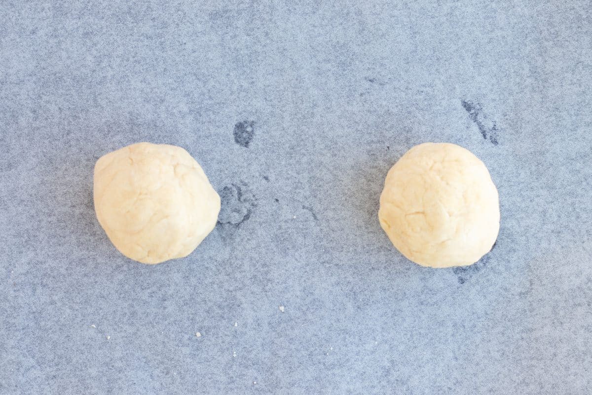 two balls of scones dough