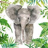 JUNGLE ELEPHANT GREY GREEN WHITE 13