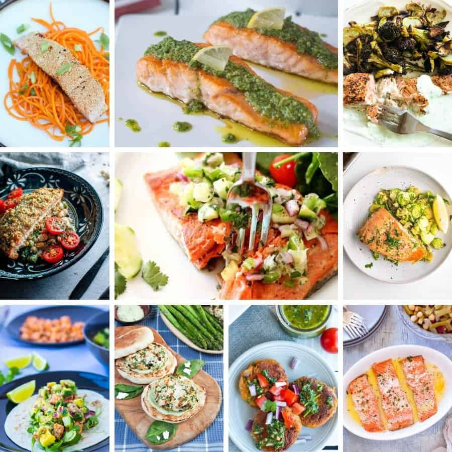 recipes included in salmon roundup
