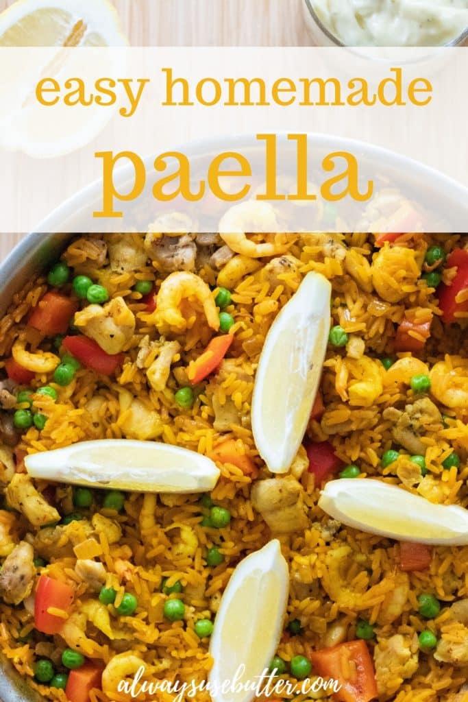 Paella With Chicken Shrimp Gluten Free Always Use Butter