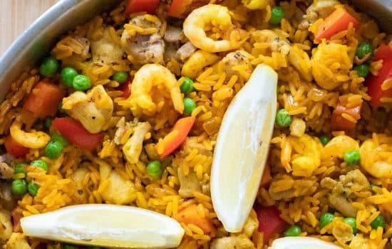 Paella with Chicken & Shrimp [gluten free]