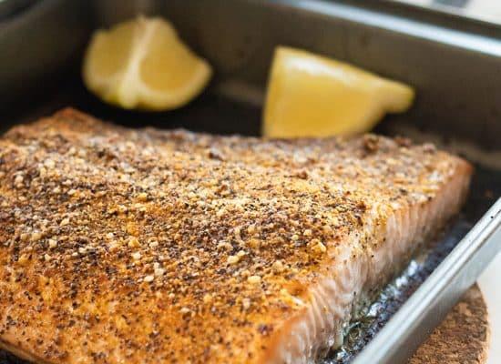 Oven-Baked Salmon with Lemon Pepper [Keto, Whole 30, Paleo]