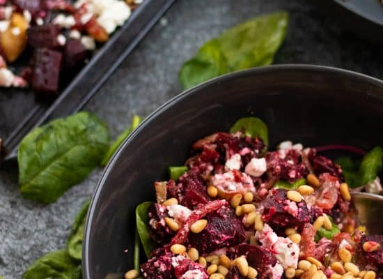 Roasted Beetroot Salad with Feta Cheese [Vegetarian, Gluten-free]