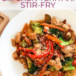15-minute Chicken Teriyaki Stir-fry - pin image