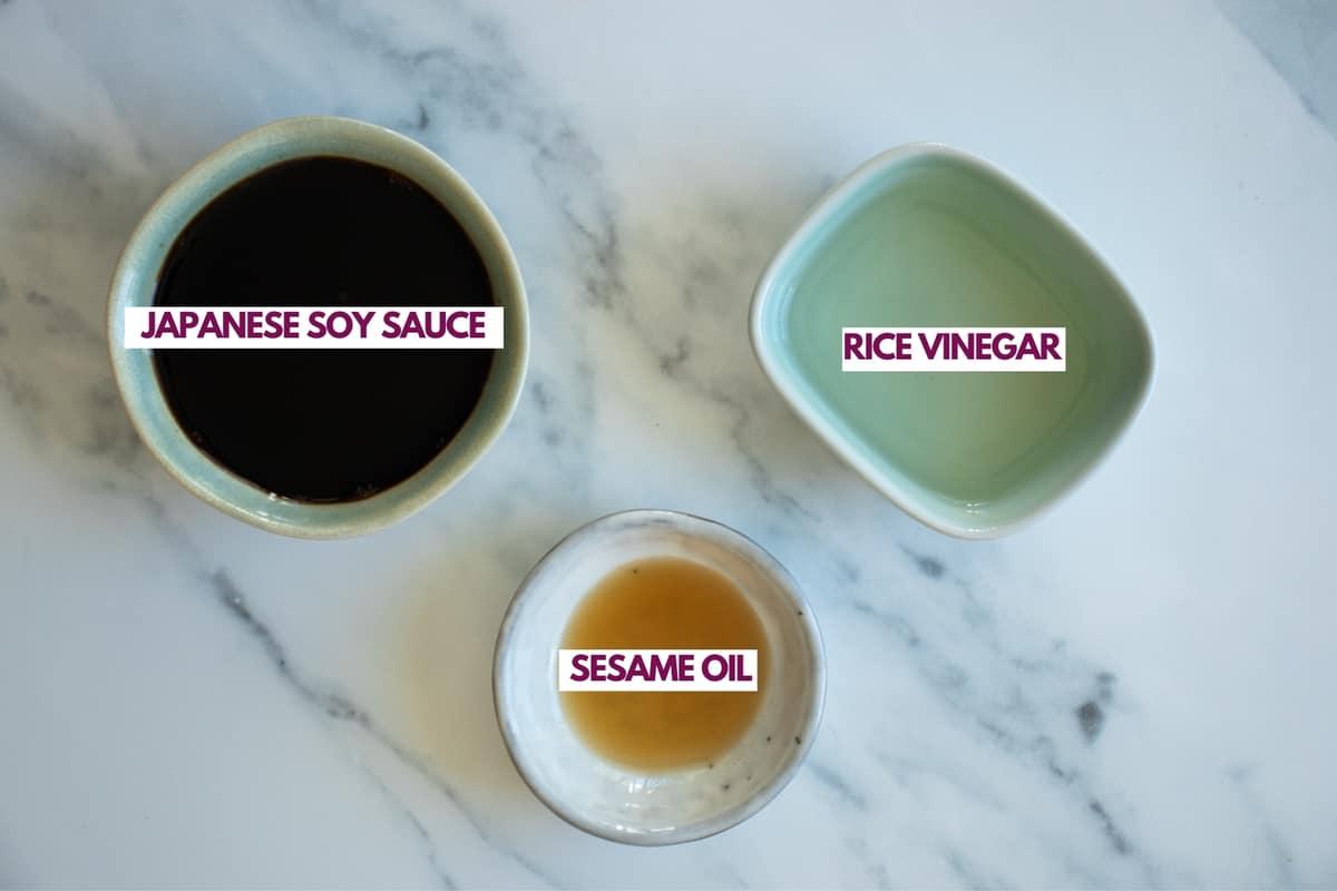 ingredients for gyoza dipping sauce