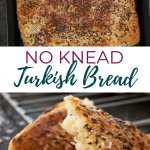 NO KNEAD OVERNIGHT TURKISH BREAD - pin image