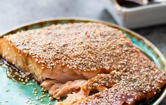Oven Baked Teriyaki Salmon