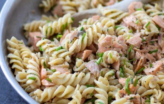 Salmon Crème Fraîche Pasta