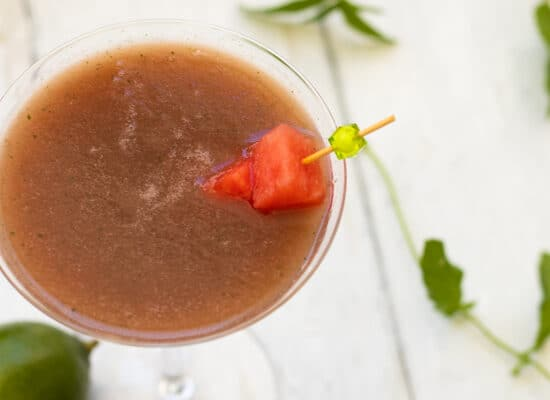 "Watermelon Mocktail ""No-tini"""