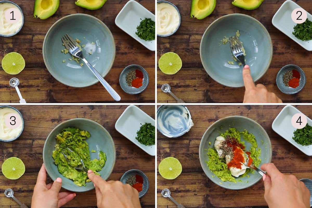 collge showing how to make avocado lime ranch