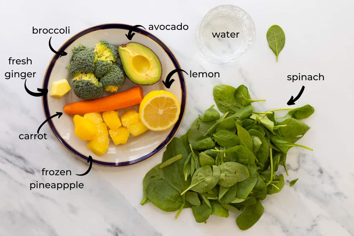 ingredients needed to make a broccoli smoothie