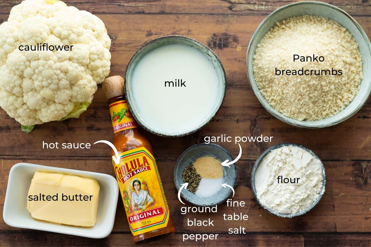 ingredients needed to make buffalo cauliflower bites
