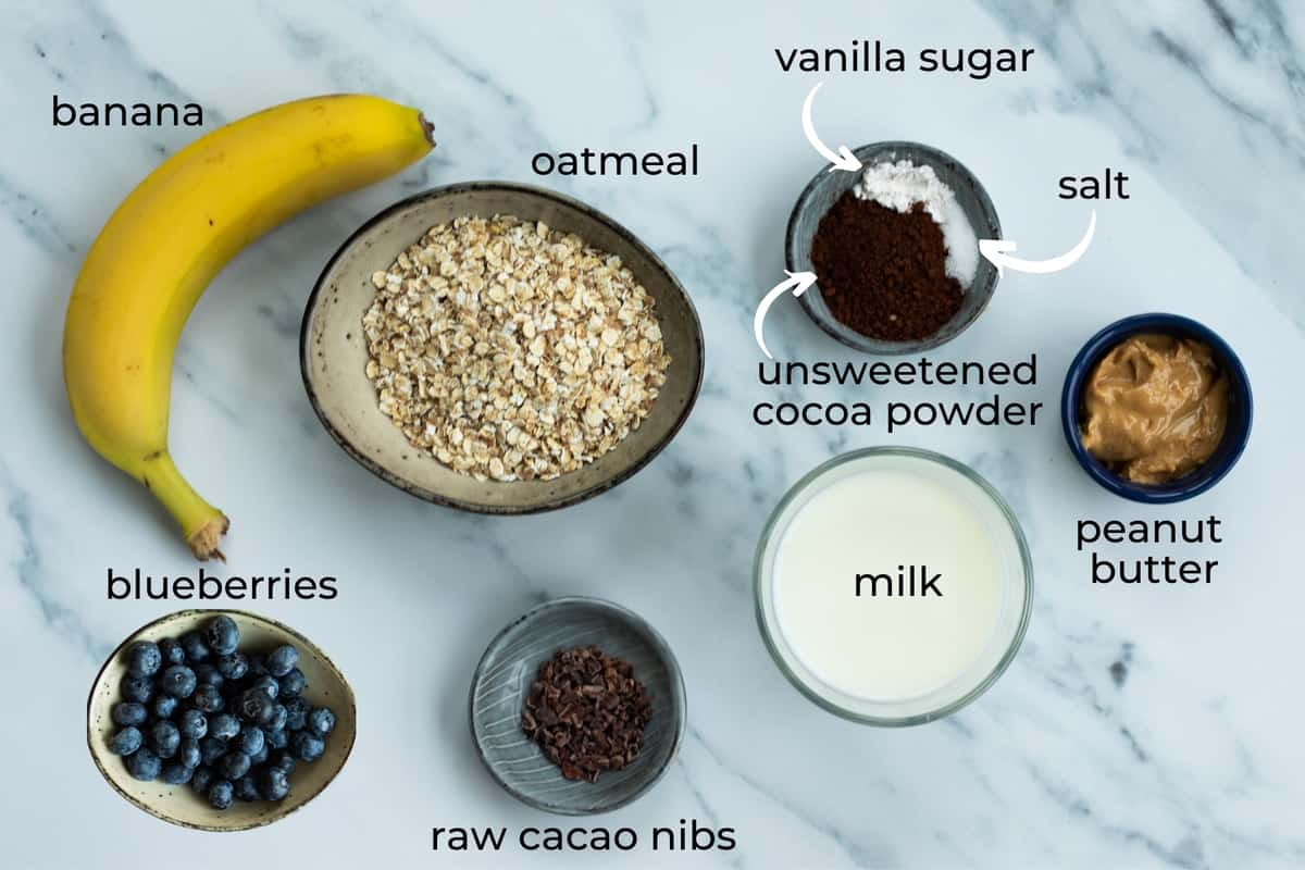 ingredients needed for chocolate oatmeal