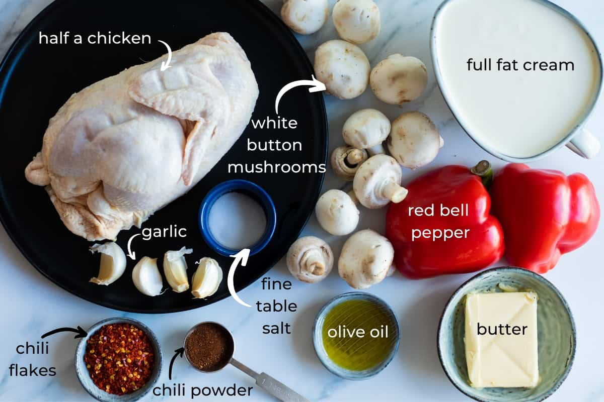 ingredients needed to make spicy chicken soup
