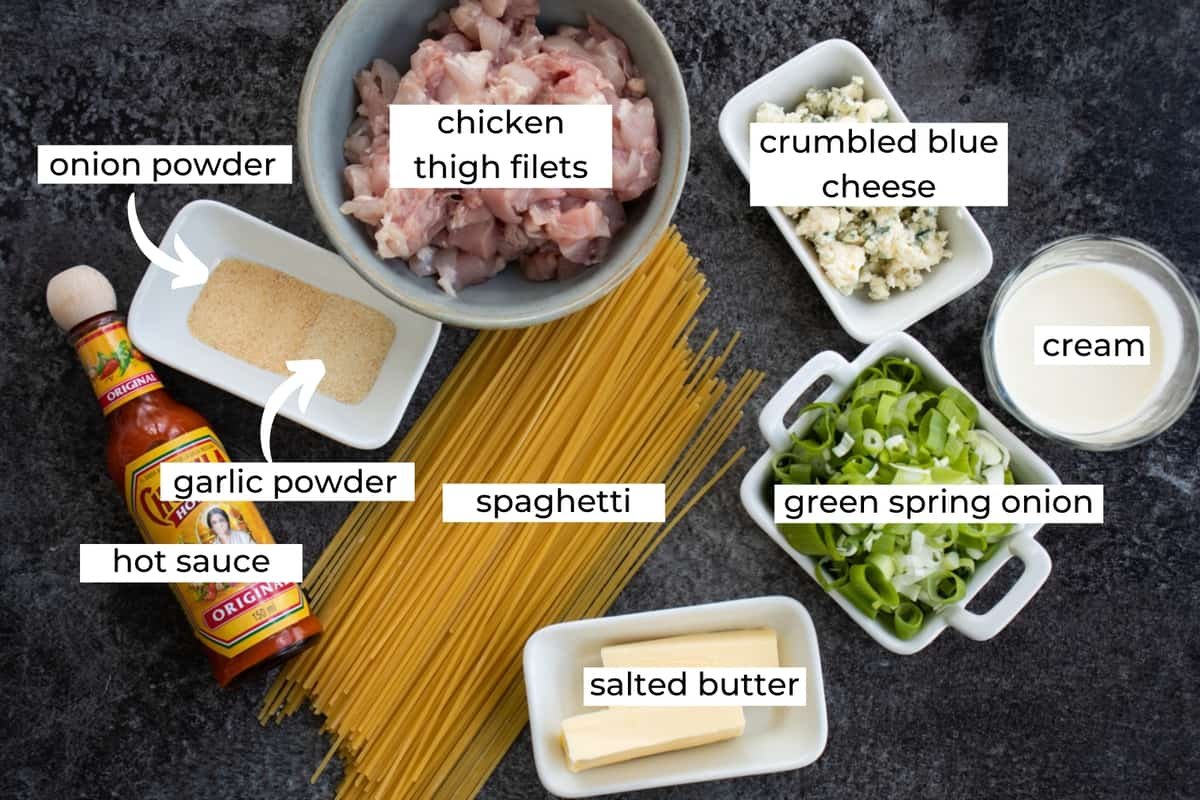 ingredients needed to make buffalo chicken pasta