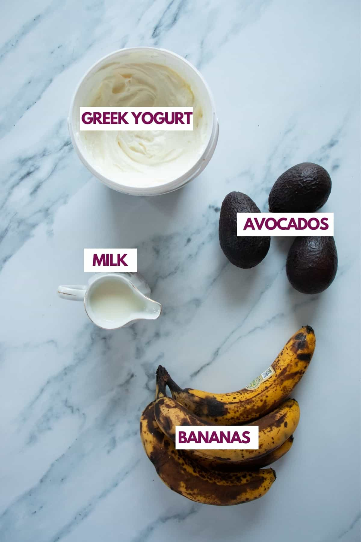 creamy ingredients for smoothies