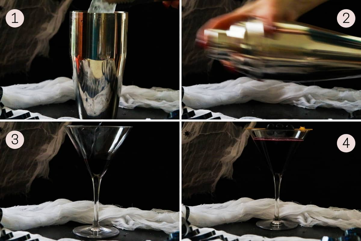 how to make a black widow martini mocktail