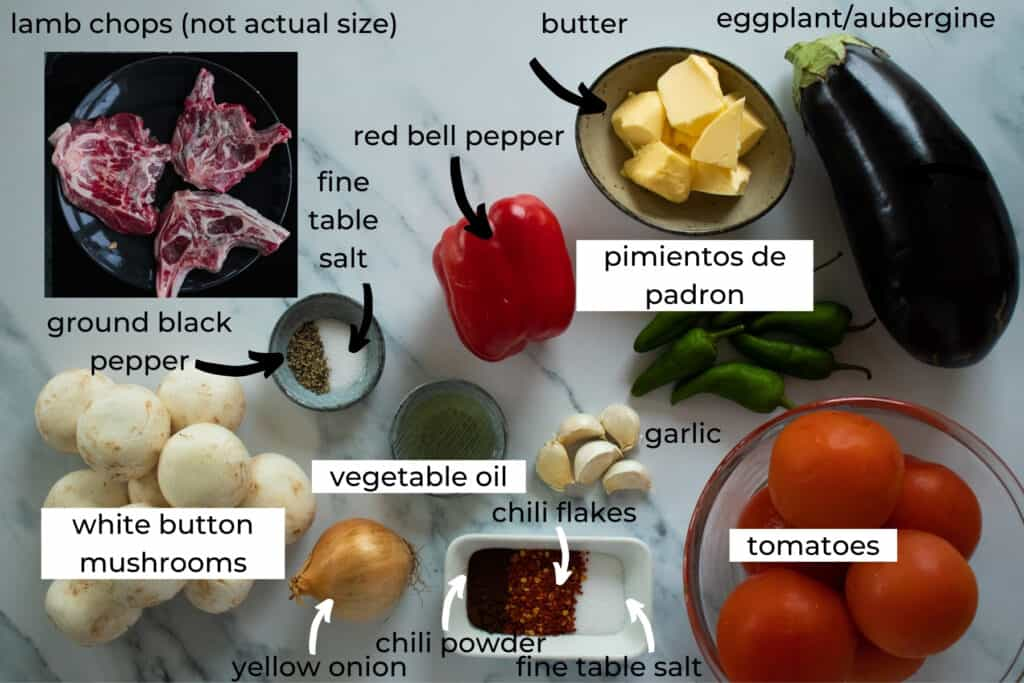 ingredients needed to make baked lamb chops