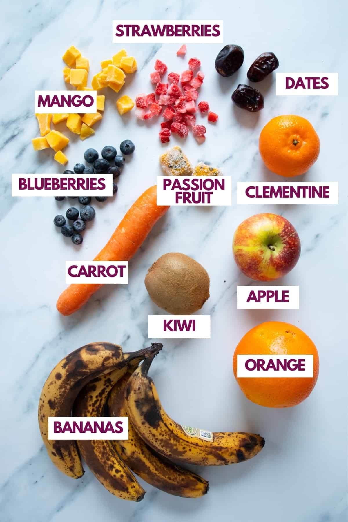 sweet ingredients for smoothies