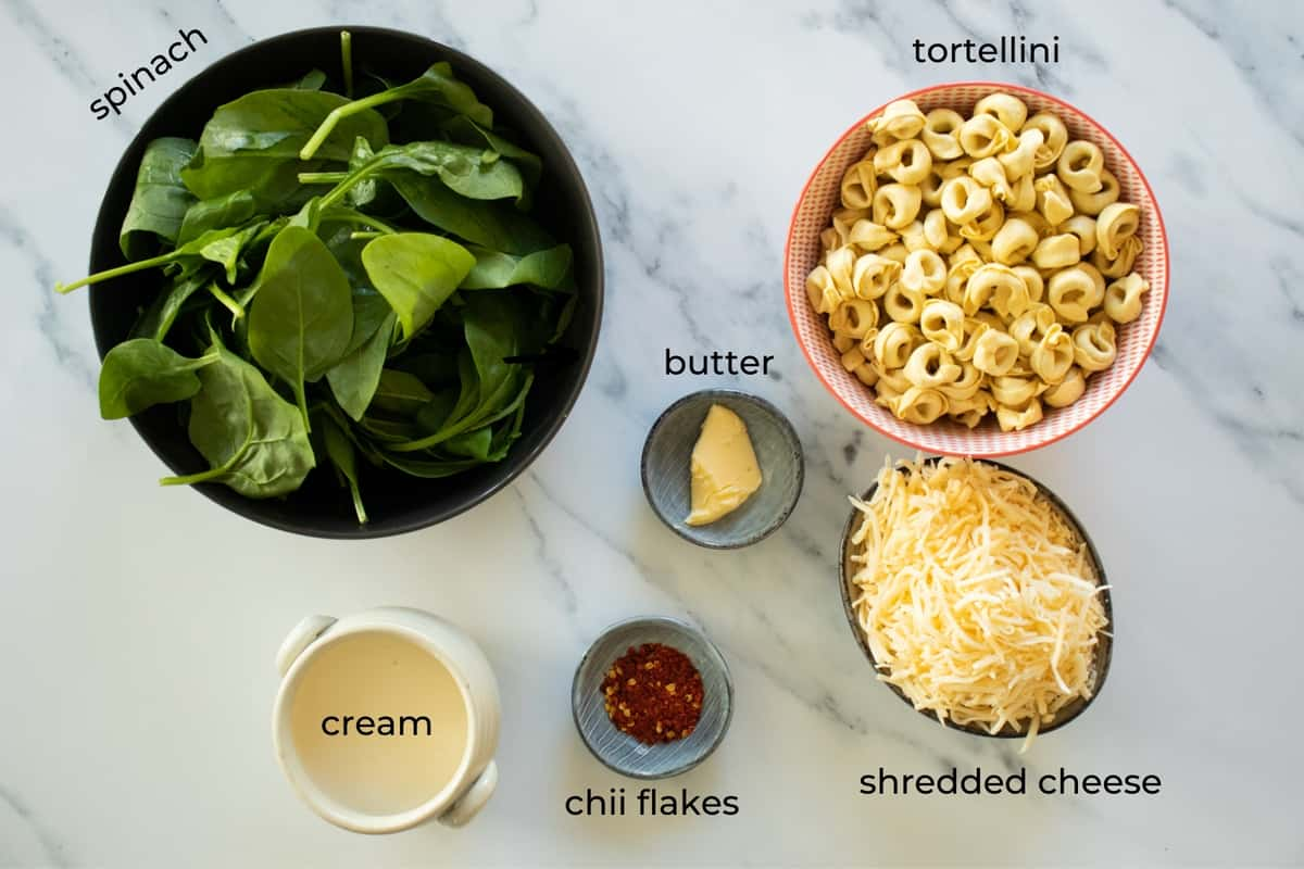 ingredients needed to make tortellini al forno