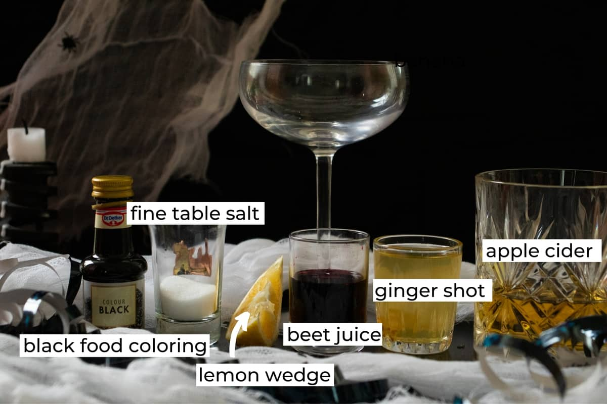 ingredients needed to make a vampire margarita