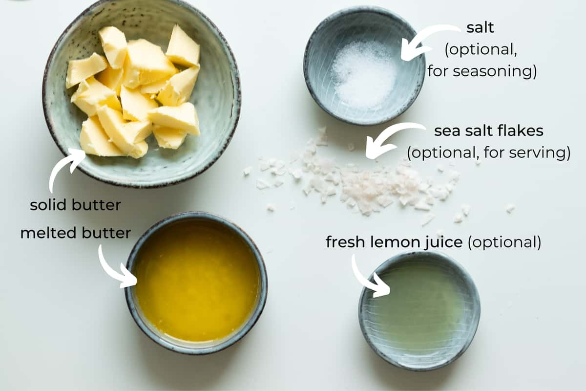 ingredients needed to make whipped butter with lemon