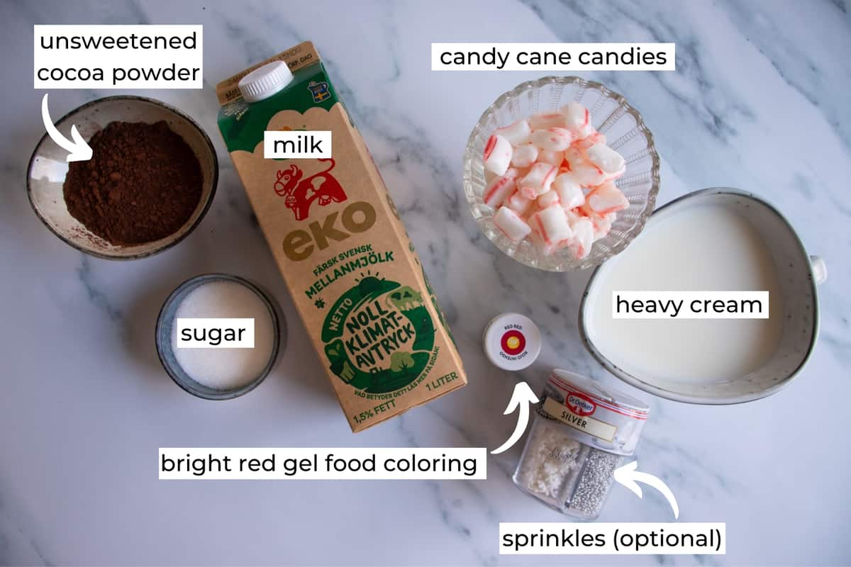 what you need to make christms hot chocolate