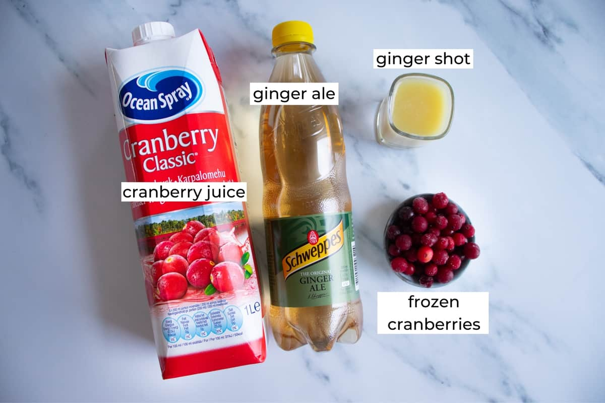 ingredient needed to make a cranberry ginger ale punch