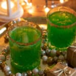 two glasses of grinch punch