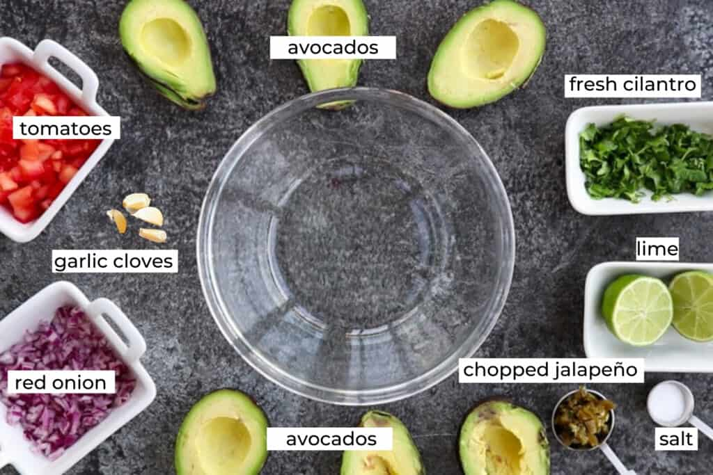 ingredients needed to make guacamole