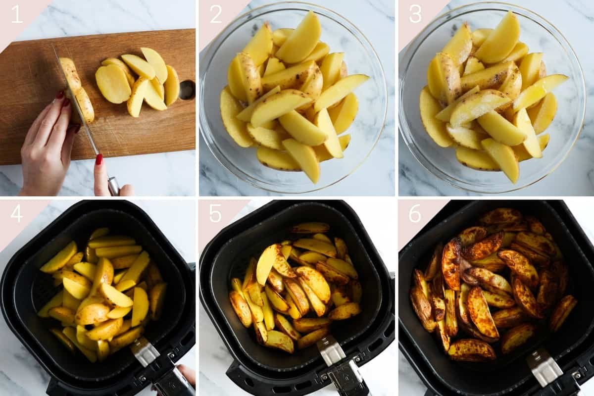 how to make air fryer potato wedges