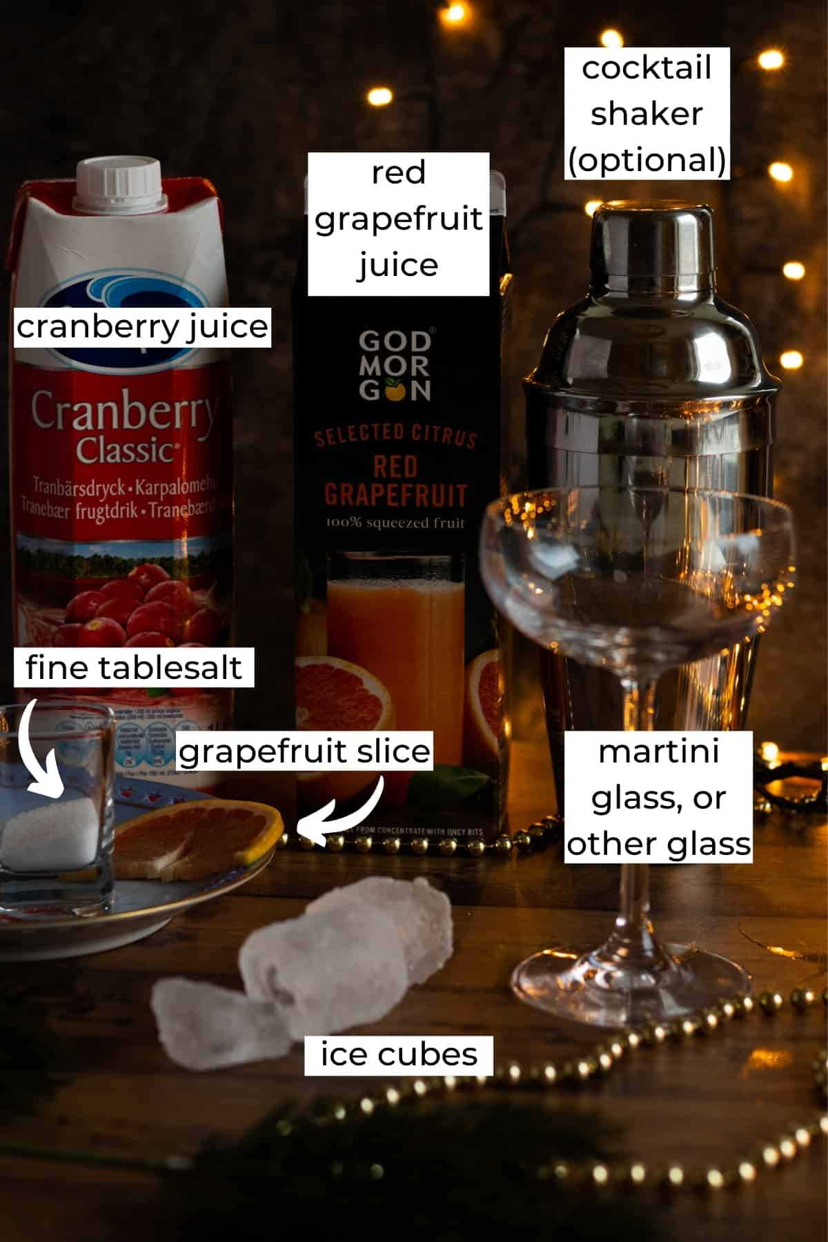 ingredients needed for sober santa christmas punch