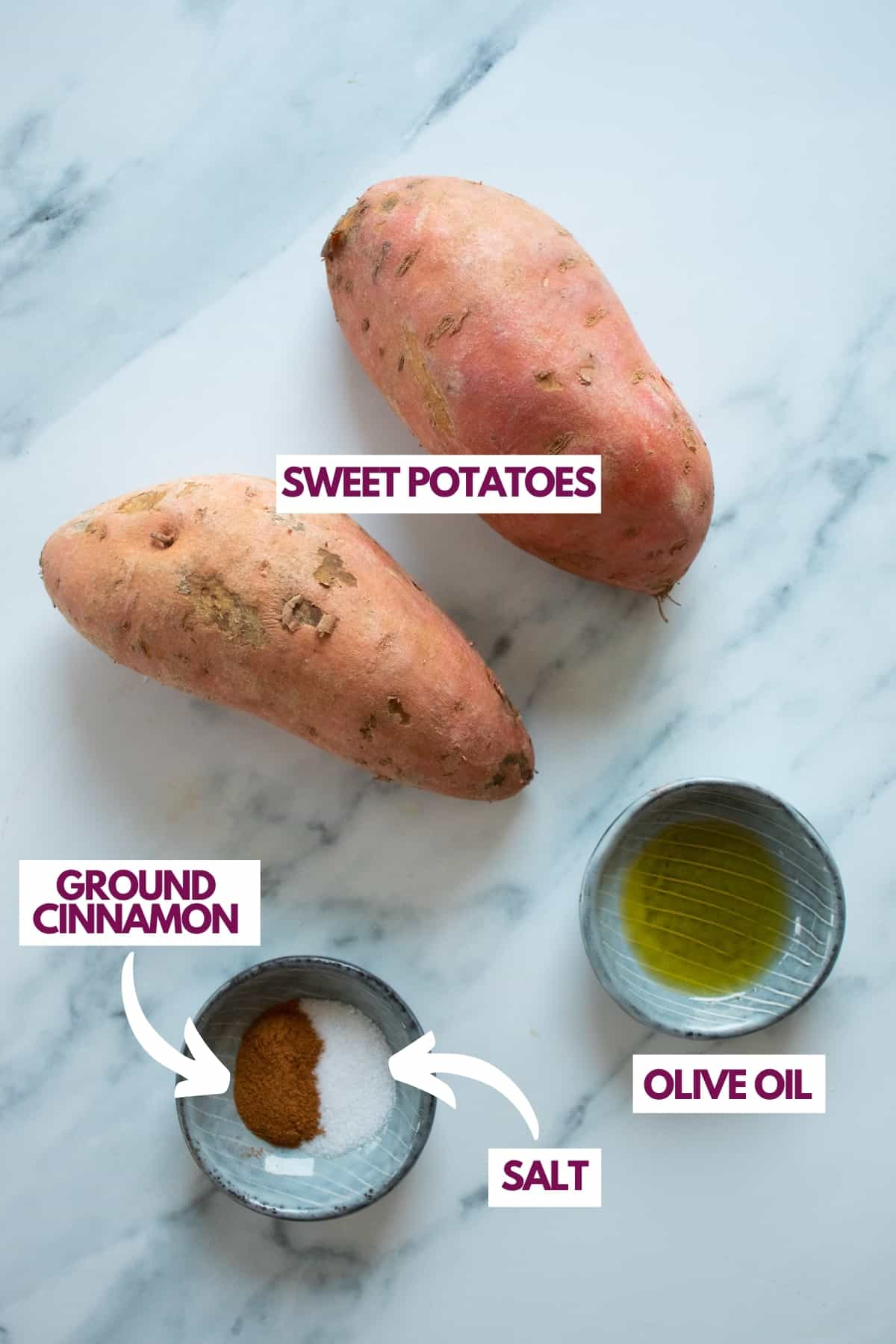 air fryer sweet potato ingredients