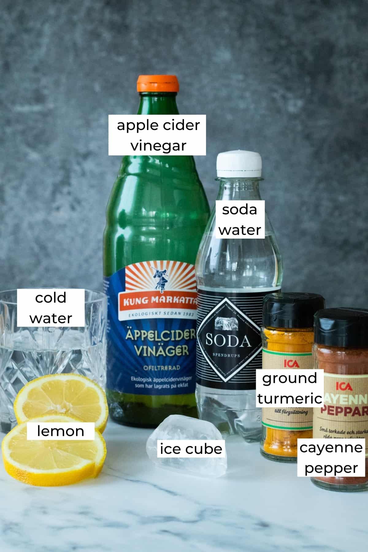 ingredients for apple cider vinegar tonic