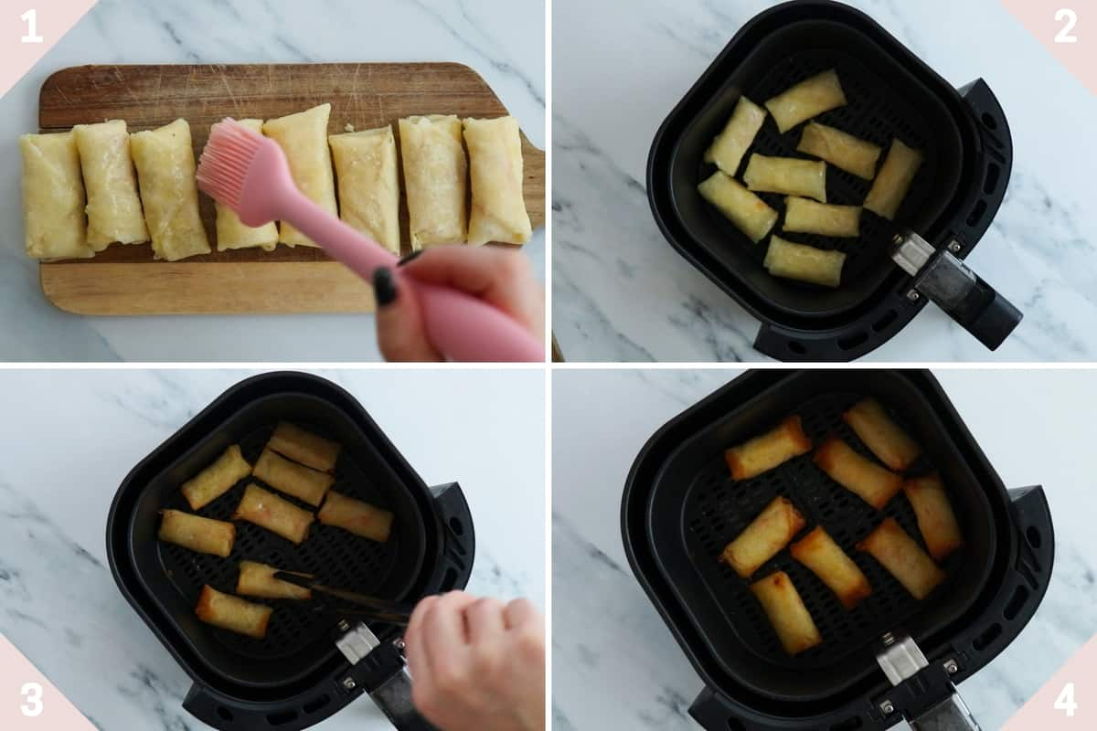 how to make spring rolls in air fryer
